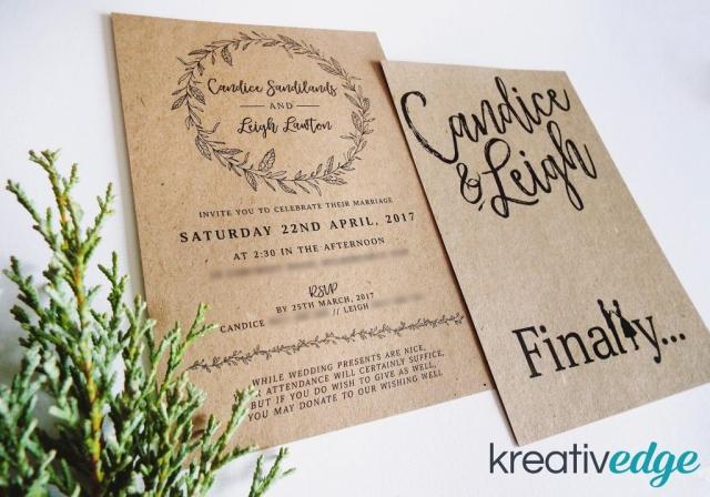 Kraft Rustic Garden Wedding Invitation